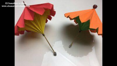 Minyatür Şemsiye Yapımı-Açılıp Kapanan Minyatür Şemsiye Nasıl Yapılır?
