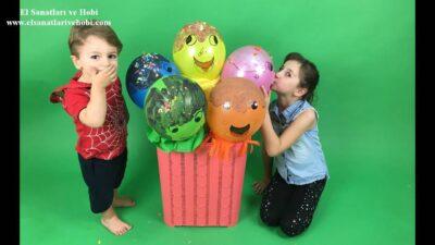 Konfeti Yapımı-Evde Balon ve El İşi Kağıtları İle Konfeti Nasıl Yapılır?