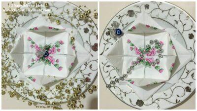 Nilüfer Çiçeği Modeli Peçete Katlama Tekniği-Peçete Nasıl Katlanır?