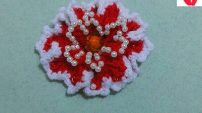 Boncuklu Örgü Çiçek Yapılışı – Muhteşem El İşi Çiçek Yapımı