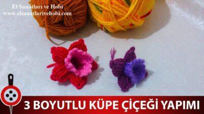 3 Boyutlu Küpe Çiçeği Nasıl Yapılır?