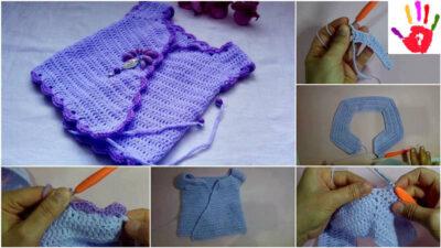 Kolay Bebek Yeleği Yapılışı  Tığ İşi Basit Bebek Yeleği Yapılışı