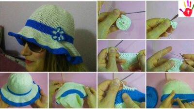 Tığ İşi Şapka Yapımı – Bayan Yazlık Örgü Şapka Yapılışı