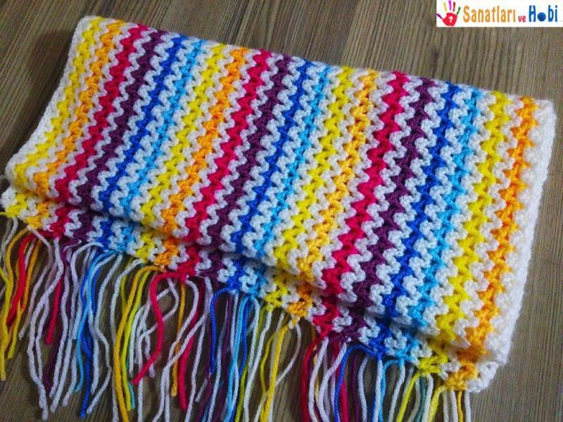 вязание узоров цветное детское одеяло изготовление